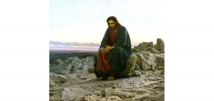 Jezus veertig dagen in de woestijn